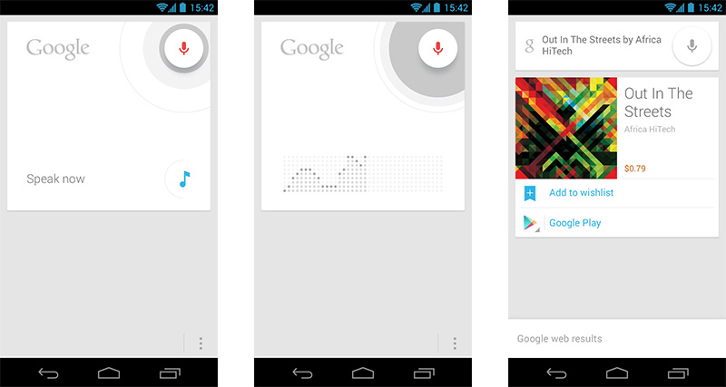 Google Now music